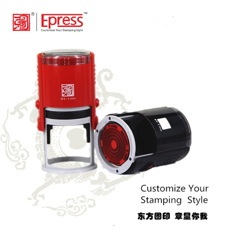DongFangTu Diameter 40mm Personalized Text Custom Rubber Stamp Maker