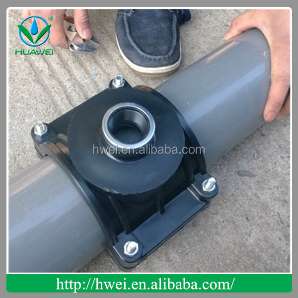 High quality plastic pipe fittings and saddle clamp from Huawei