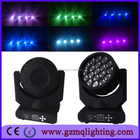Professional Stage DJ Disco Party Club Beam Wash Lighting Equipment 19*12w high quality RGBW led Bee Eye Moving Head Light