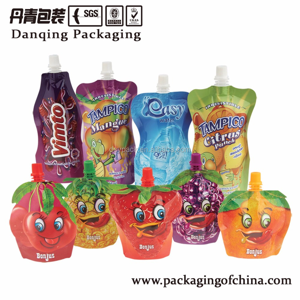 China Heat Seal Bag, Unique Shaped Spouted Pouch Food Stand Up Pouch D0063
