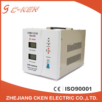 China Factory LCD SVR single phase 5000va relay type high accuracy ac automatic voltage stabilizers , 5kw voltage regulator