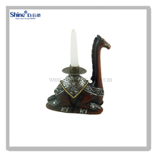 polyresin handicraft camel statues animal shaped taper candle holders