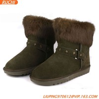 Fashion Women Boots for Winter Warm Fur Collar
