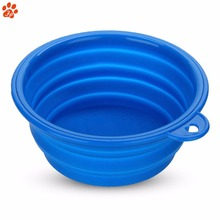 Custom Logo Portable Travel Silicone collapsible light pet dog bowl