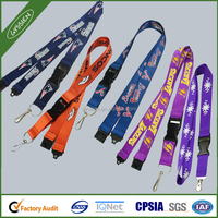 Nylon/polyester material id holder personalized logo silk screen printed lanyard