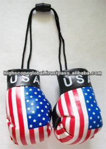 Promotional Mini Boxing gloves for Car Hanging on Mirror all colors