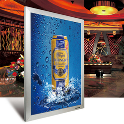 High quality aluminum open snap slim A0,A1,A2,A3,A4,A5 Advertising aluminum poster frame