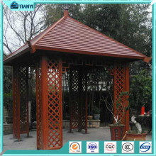 wooden color pop up aluminum polycarbonate garden outdoor metal used gazebo for sale