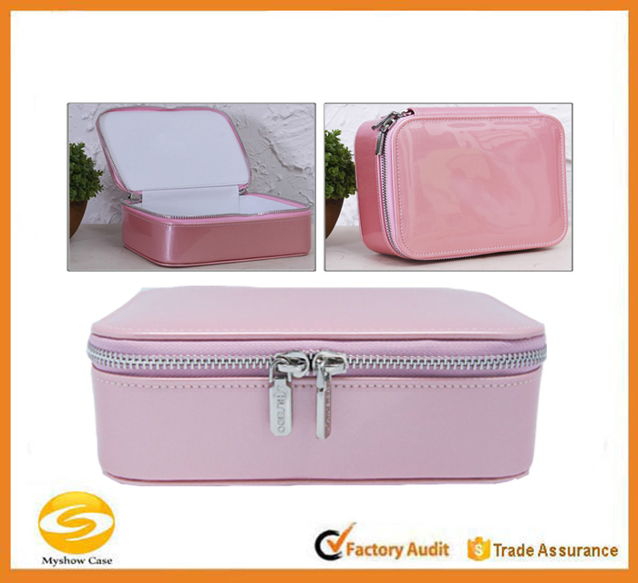 Gift Packing Pu leather Jewelry Box/ Bag,custom jewelry gift boxes with zipper closure,Fabulous Girls Gift Case