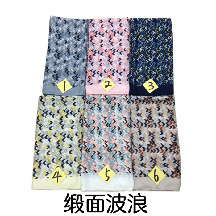 Modern design personalized custom twill silk scarf shawl ladies for painting