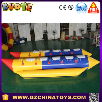 2017 guangzhou banana boat agua big inflatable price
