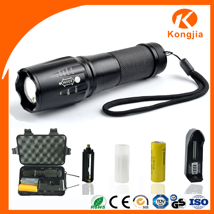 Great Value High Lumens Ultra Bright X800 Camping Emergency Used XML-T6 Waterproof High Power Rechargeable Led Flashlights