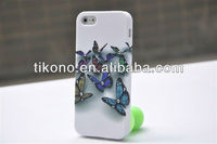 Bling rhinestone IMD flowers hard plastic case for iphone5