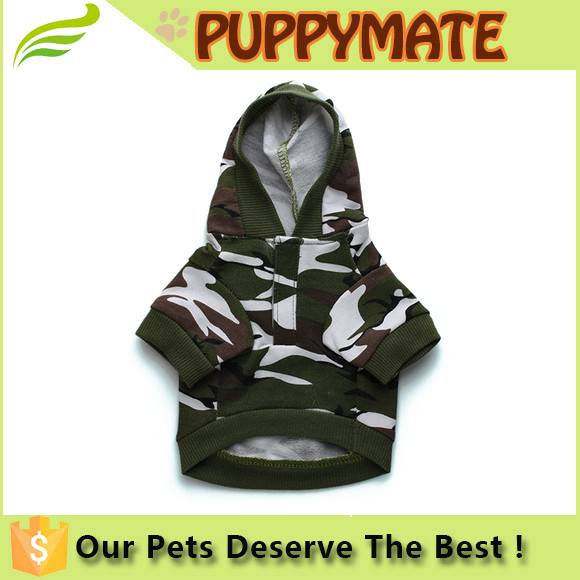 New Pet Dog Cat Camo Cloth Dog Hoody Clothes Apparel Puppy Doggy Camouflage Coat