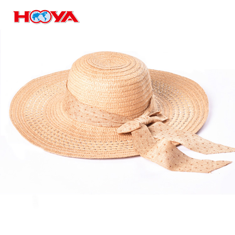 Floppy Beachwear Sun Hat Travel Hat Paper Straw Hat With Bow
