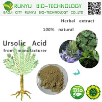 Herbal extract loquat leaf extract ursolic acid 25% CAS 77-52-1