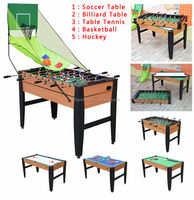 Factory of different kinds 5 in 1 multi game table / combine functions game tables