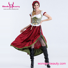 Factory Wholesale Women Hot Fashion Sexy Deluxe French Maid Costume