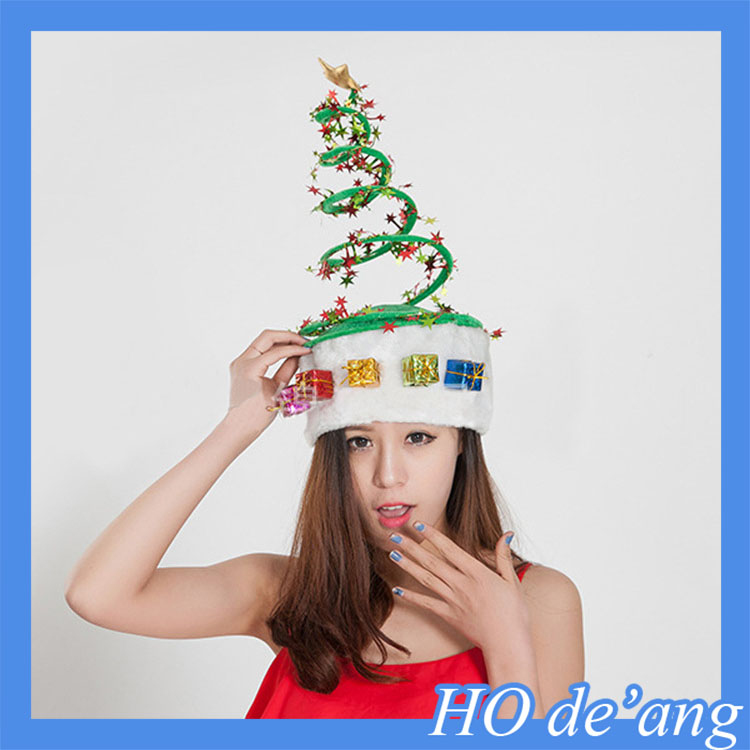 Hogift Customized Logo Promotional Christmas hat /printing Christmas gifts/ cheap Christmas products