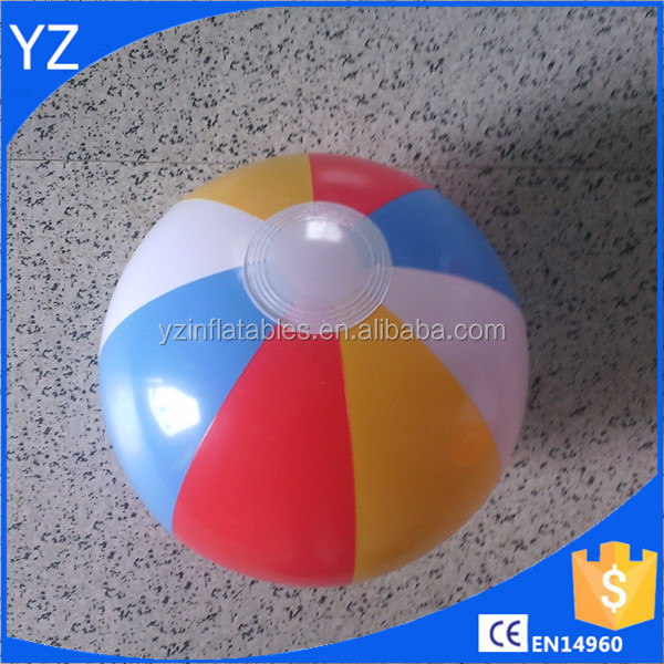PVC rainbow 6 panel inflatable beach ball