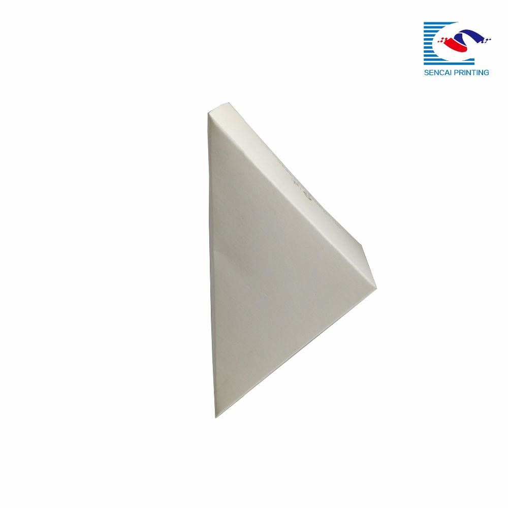 Custom-made sandwich wedge package folding art paper white sandwich box