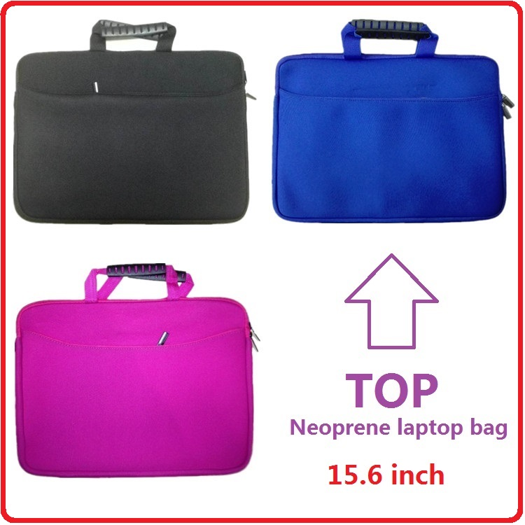 Wholesale Chinese factory custom 15 inch neoprene laptop hand bag