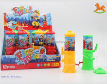 Funny spray water gun with solid color toy with sweet candy Made in China