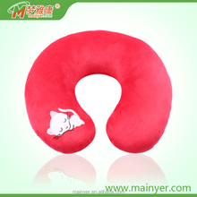 China Direct Factory Wholesale Embroidery Style Polypropylene Cotton Baby Children Neck Pillow Travel Pillow