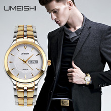 high quality stainless steel back 3atm water resistant quartz watch