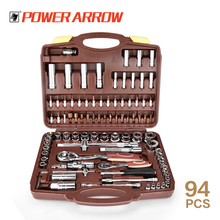 "94PCS 1/2""1/4"" Dr. Socket Set Car Repair Tools Auto Hand Tools DIN standards machine tools 94pcs Socket Wrench Set"