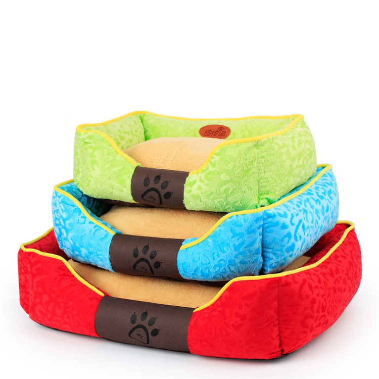 Wholesale Pet Supplies Lovely Plush Memory Foam Dog Bed