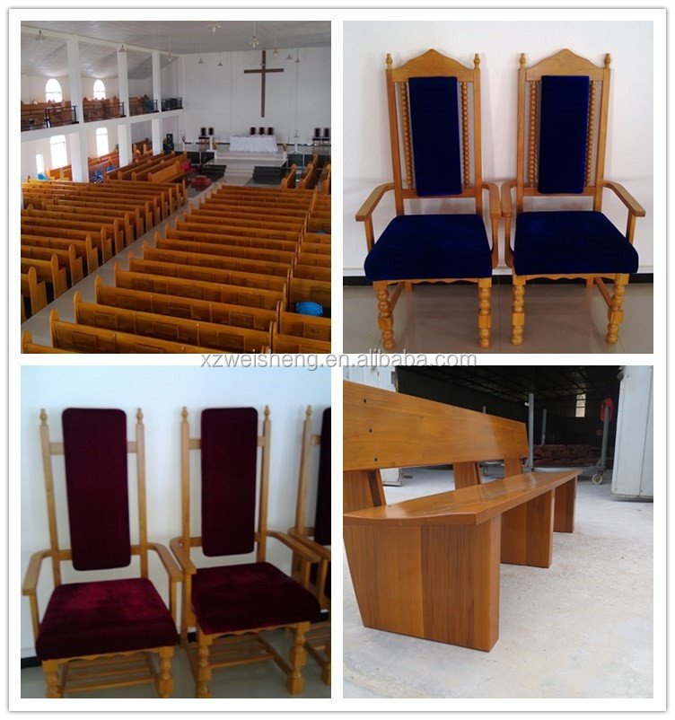Modern style wooden church pew WCP002