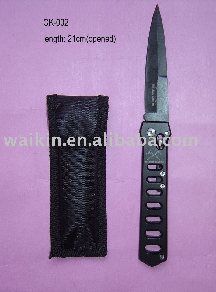 Tactical frost cutlery black finish hunting knife