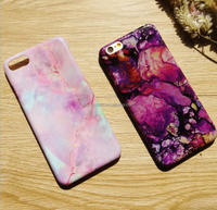 Cheap Plastic Marble Texture Glossy Phone Case For Iphone 6 6Plus 7 7Plus