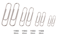mini paper clips in different size