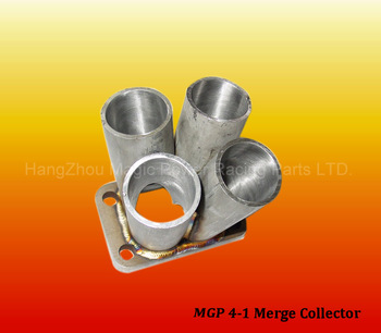 "Stainless Steel 4-1 Merge Collector w/ T3 Flange 1.75"" Custom Turbo Manifold"
