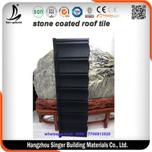 Popular black color stone coated metal roofing tile / metal corrugated tile roofing/Stone Chip Coated Metal Roof Sheet