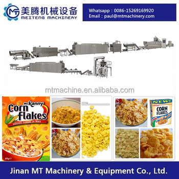 200kg/h Automatic Extruded Corn Flakes Making Machine
