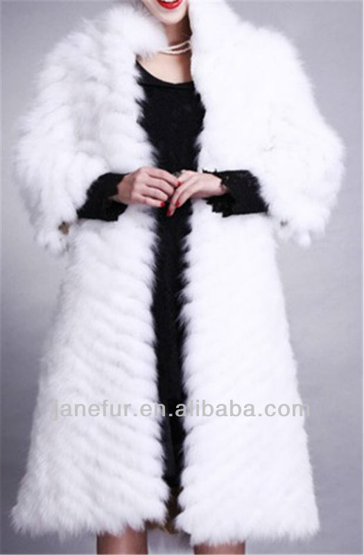 Pure color fox fur garment/dressing/coat fashion noble