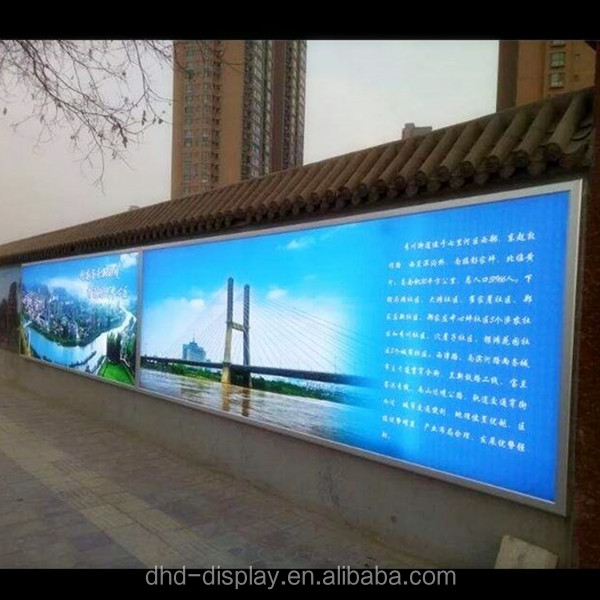 LED advertising backlit displays super large Aluminum profile wall hanging advertising light box