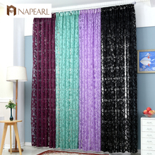 NAPEARL Multiple colors ready made semi-blackout curtains blind panel fabrics for window purple red curtains