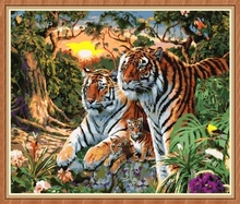wall art decor tiger oil paintings coloring by numbers for wholesale GX7861