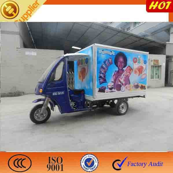 enclosed cargo three wheeled motorcycle/3 wheeler/cargo motorized tricycle