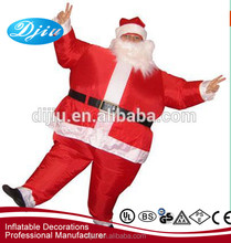 2017 Adult Santa Claus Play Inflatable Garment Dress Up Dance Funny Doll Walking Parents Assemble Hat