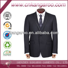 Exclusive wool silk fashion single breast two button satin notch lapel blazer