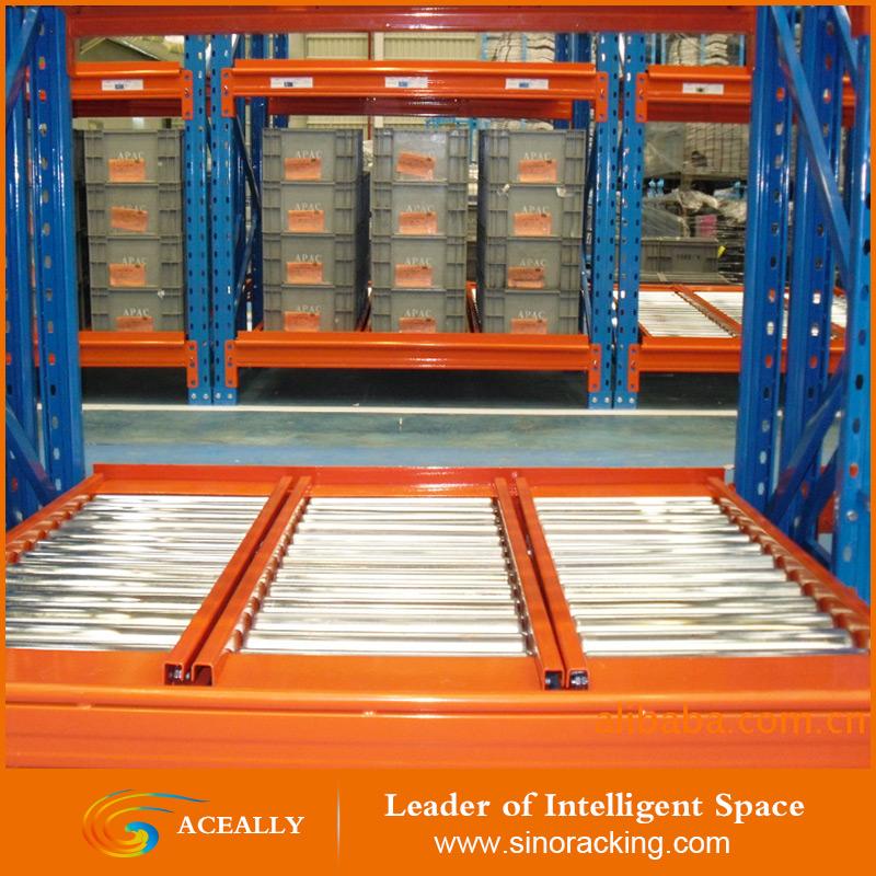 Gravity roller rack,heavy duty warehouse rack