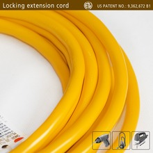 IWOXS 25FT 14 Gauge Indoor Outdoor Heavy Duty Power Extension Cord Yellow UL Listed