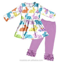 Cute girl's clothing, specifically the wholesale girl's cotton suit, beautiful patterns and patterns symbolize the beautiful gir