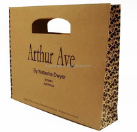 Paper bag with die cut handle vector manufacture