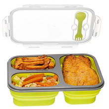 Portable Foldable Food Container Silicone Lunch box